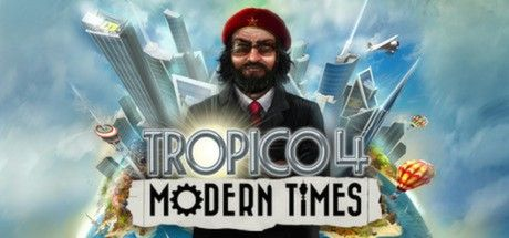 Clickable image taking you to the Green Man Gaming store page for the Modern Times DLC for Tropico 4