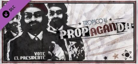 Clickable image taking you to the Green Man Gaming store page for the Propaganda! DLC for Tropico 4