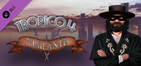 Clickable image taking you to the Green Man Gaming store page for the Vigilante DLC for Tropico 4