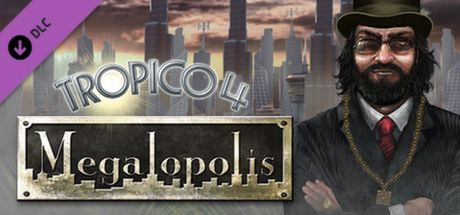 Clickable image taking you to the Green Man Gaming store page for the Megalopolis DLC for Tropico 4