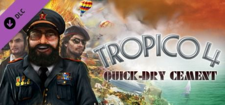 Clickable image taking you to the Green Man Gaming store page for the Quick-dry Cement DLC for Tropico 4