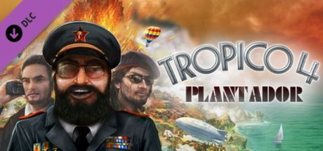 Clickable image taking you to the Green Man Gaming store page for the Plantador DLC for Tropico 4