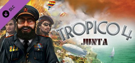 Clickable image taking you to the Green Man Gaming store page for the Junta Military DLC for Tropico 4
