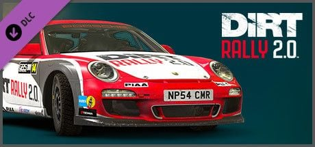 Clickable image taking you to the Steam store page for the Porsche 911 RGT Rally Spec DLC for Dirt Rally 2.0.