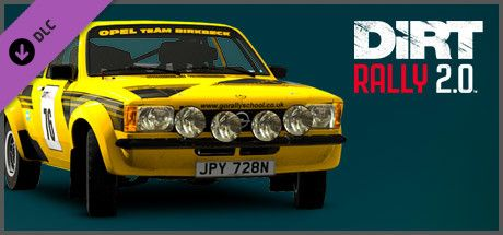 Clickable image taking you to the Steam store page for the Opel Kadett C GT/E DLC for Dirt Rally 2.0.