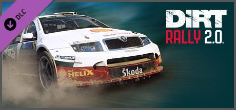 Clickable image taking you to the Steam store page for the Å KODA Fabia Rally DLC for Dirt Rally 2.0.