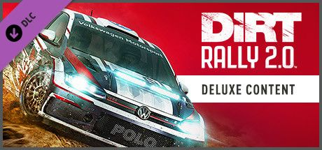 Clickable image taking you to the Steam store page for the Deluxe Upgrade Store Package DLC for Dirt Rally 2.0.