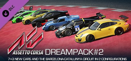 Clickable image taking you to the Indiegala store page for the Dream Pack 2 DLC for Assetto Corsa