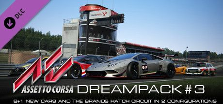 Clickable image taking you to the Indiegala store page for the Dream Pack 3 DLC for Assetto Corsa