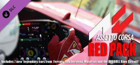 Clickable image taking you to the Indiegala store page for the Red Pack DLC for Assetto Corsa