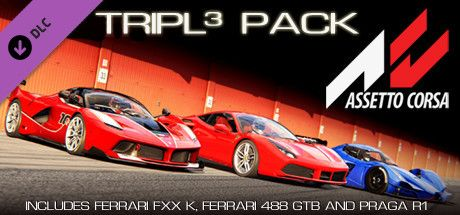 Clickable image taking you to the Indiegala store page for the Tripl3 Pack DLC for Assetto Corsa