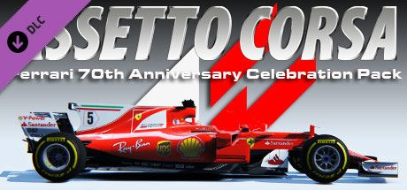 Clickable image taking you to the Indiegala store page for the Ferrari 70th Anniversary Pack DLC for Assetto Corsa