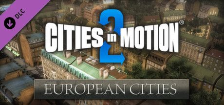 Clickable image taking you to the Green Man Gaming store page for the European Cities DLC for Cities in Motion 2