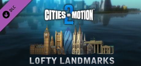 Clickable image taking you to the Green Man Gaming store page for the Lofty Landmarks DLC for Cities in Motion 2