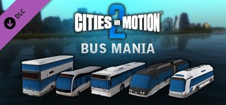 Clickable image taking you to the Green Man Gaming store page for the Bus Mania DLC for Cities in Motion 2