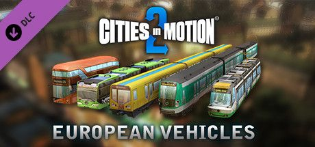 Clickable image taking you to the Green Man Gaming store page for the European Vehicle Pack DLC for Cities in Motion 2