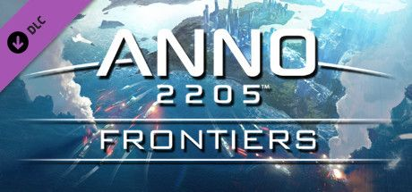 Clickable image taking you to the Green Man Gaming store page for the Frontiers DLC for Anno 2205™