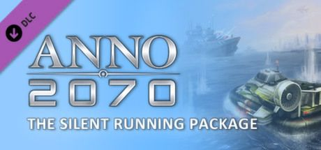 "Clickable image taking you to the Steam store page for the Silent Running Package DLC for Anno 2070â""¢"