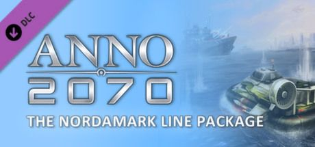 "Clickable image taking you to the Steam store page for the Nordamark Line Package DLC for Anno 2070â""¢"