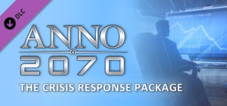 "Clickable image taking you to the Steam store page for the Crisis Response Package DLC for Anno 2070â""¢"