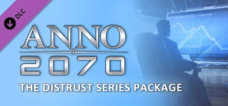 "Clickable image taking you to the Steam store page for the Distrust Series Package DLC for Anno 2070â""¢"