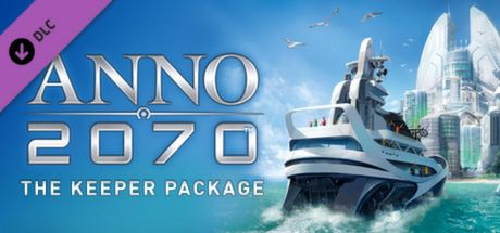 "Clickable image taking you to the Steam store page for the Keeper Package DLC for Anno 2070â""¢"