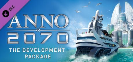 "Clickable image taking you to the Steam store page for the Development Package DLC for Anno 2070â""¢"
