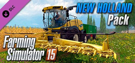 Clickable image taking you to the Steam store page for the New Holland Pack DLC for Farming Simulator 15