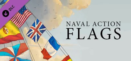 Clickable image taking you to the Steam store page for the Flags DLC for Naval Action