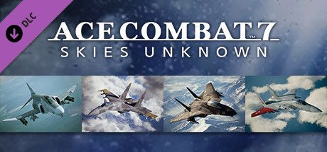 "Clickable image taking you to the Steam store page for the F-4E Phantom II + 3 Skins DLC for Ace Combatâ""¢ 7: Skies Unknown"