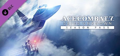 "Clickable image taking you to the Steam store page for the Season Pass DLC for Ace Combatâ""¢ 7: Skies Unknown"