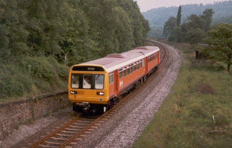 Image showing 142001 near Whatstandwell on the Matlock branch whilst on an evening test run from RTC