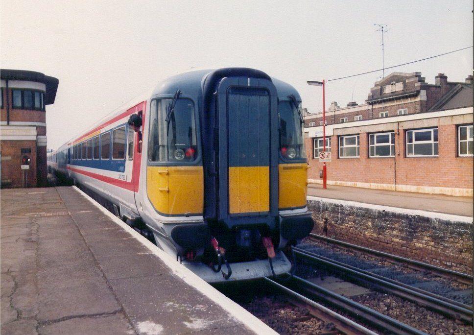 Image showing a Class 442 EMU leaving Woking