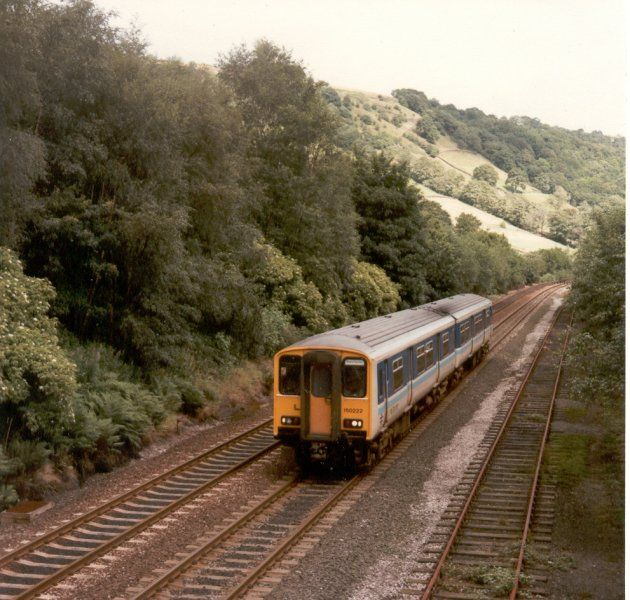 Image showing 150222 passing Charlestown loop, on the Calder Valley line between Hebden Bridge and Todmorden