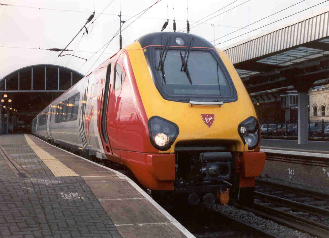 Image showing 221114 at Newcastle station after a run from Crofton sometime in March 2002