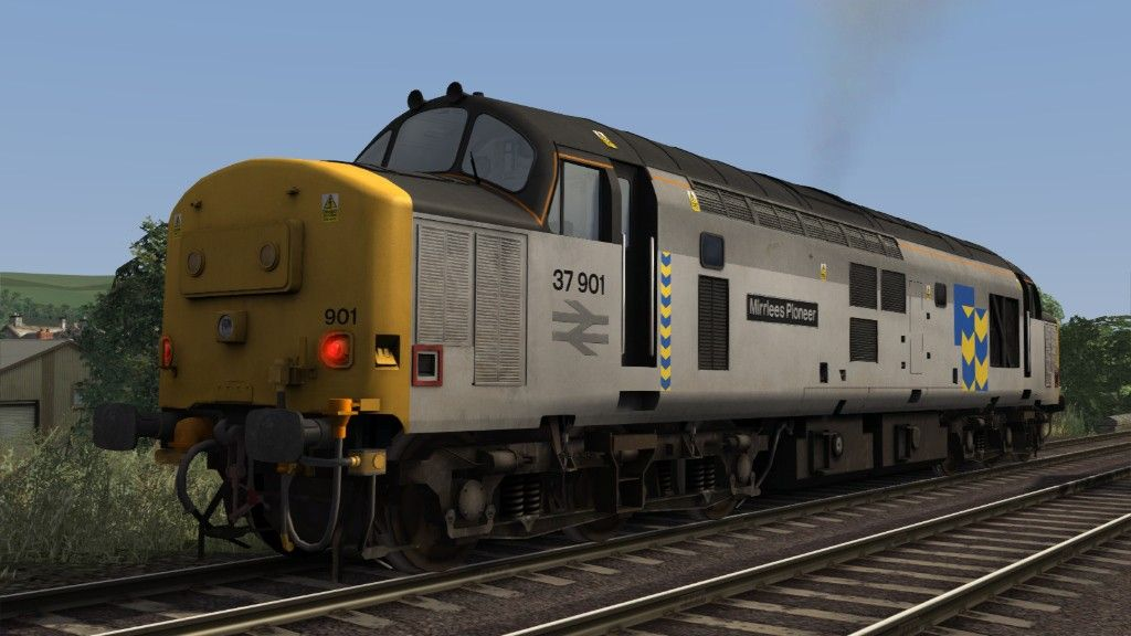 Image showing screenshot of a Class 37 locomotive as seen in the Armstrong Powerhouse Class 37 Pro Sound Pack