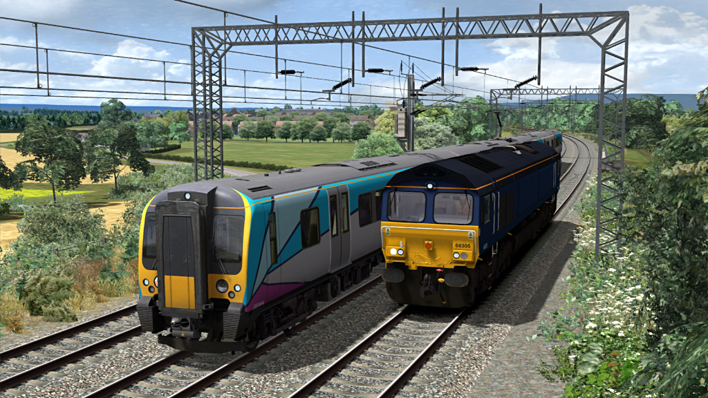 Image showing screenshot of a Class 350 EMU as seen in the Armstrong Powerhouse Class 350 Enhancement Pack