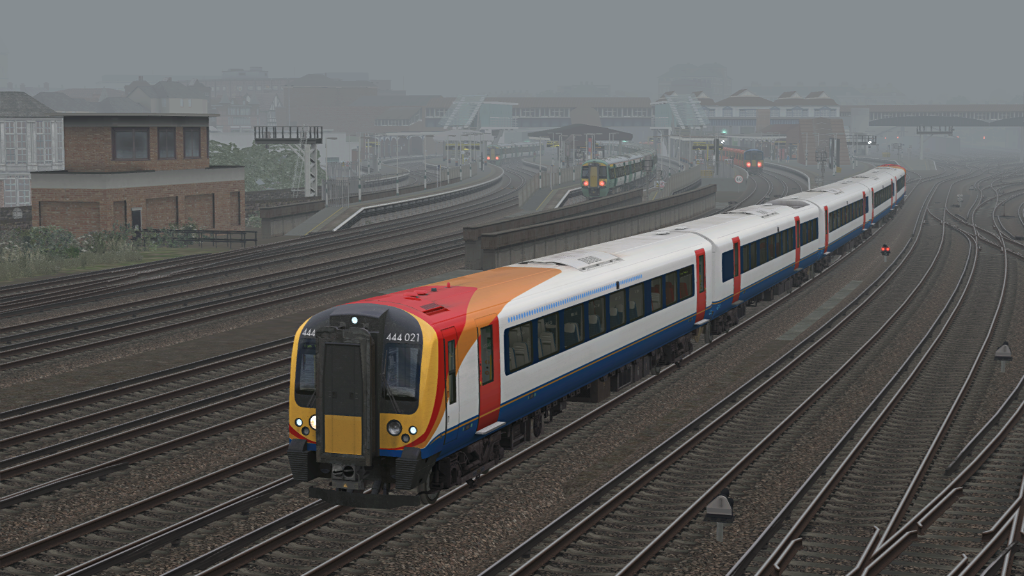 Image showing screenshot of a Class 444 EMU as seen in the Armstrong Powerhouse Class 444 & 450 Enhancement Pack