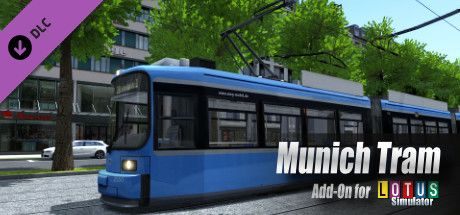 Clickable image taking you to the Steam store page for the München Tram DLC for LOTUS-Simulator