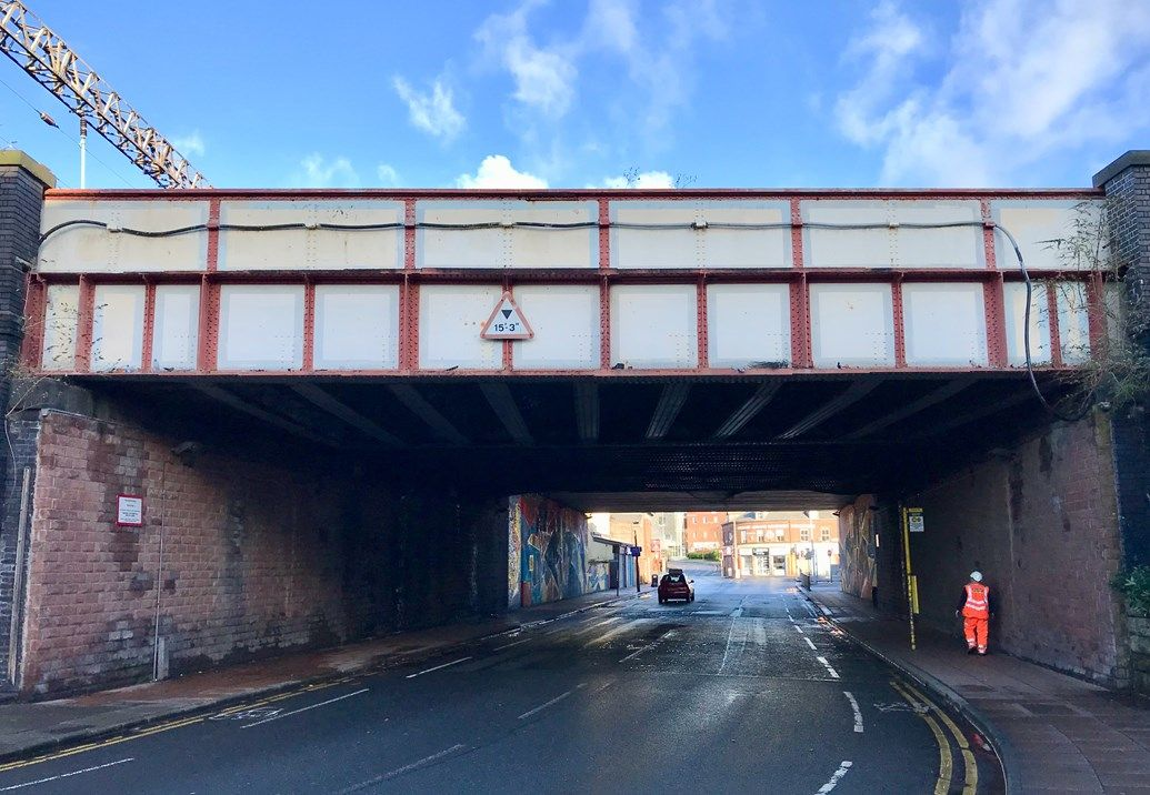Image showing railway bridge at Garston in Liverpool