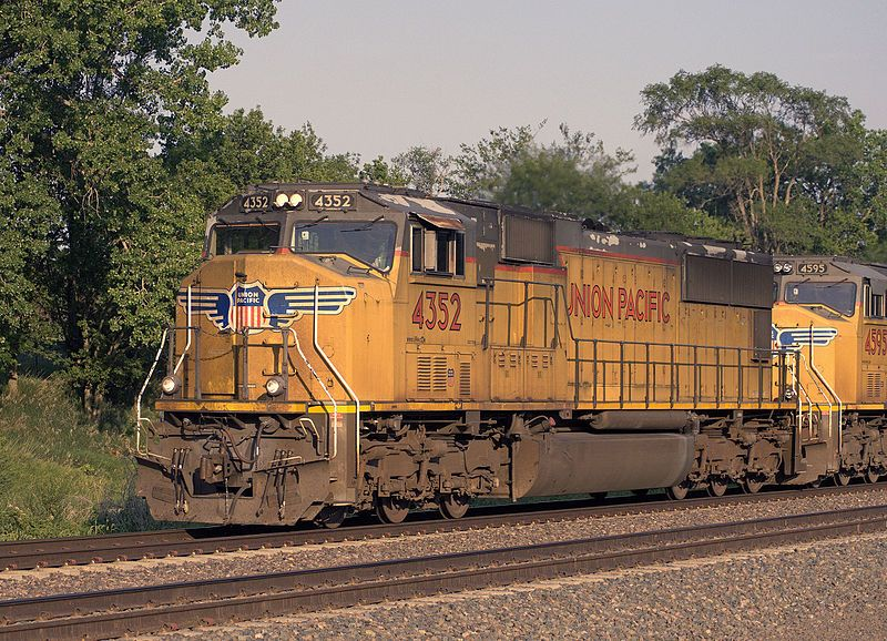 Image showing UP SD70M no. 4352 at Fairbury, Nebraska in July 2014
