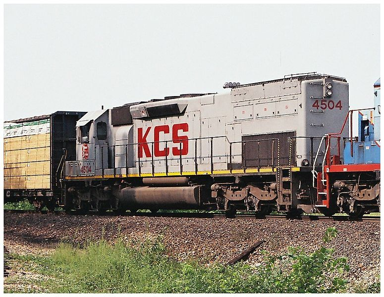 Image showing Kansas City Southern Railway #4504, EMD SD45T-2