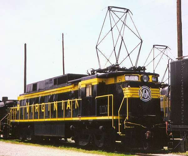 Image showing Virginian Railway 135, a class EL-C ignitron rectifier mainline electric locomotive preserved at the Virginia Museum of Transportation