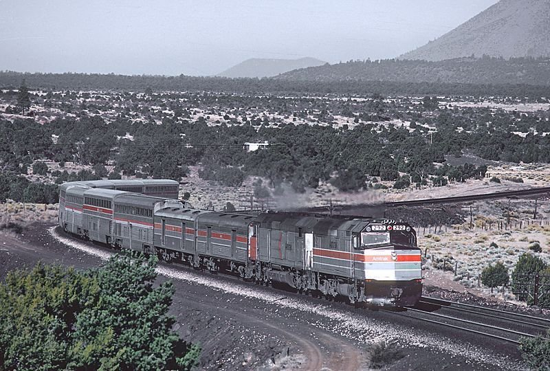 Image showing an Amtrak liveried EMD SPD40F