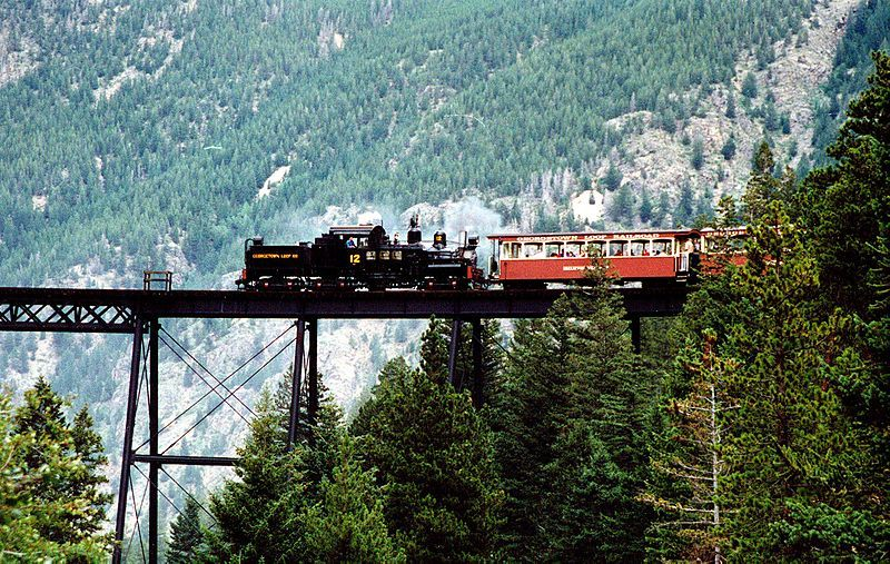 Image showing a locomotive on the Georgetown Loop Railroad