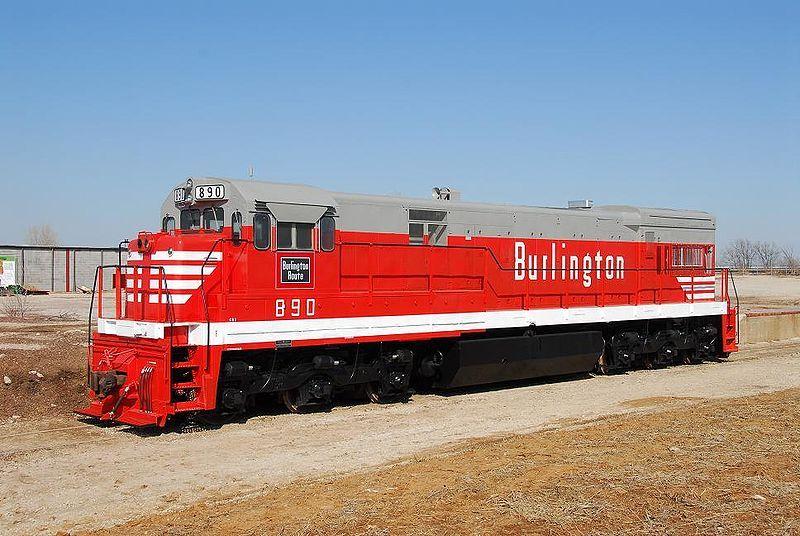 Image showing a Burlington liveried GE U30C locomotive