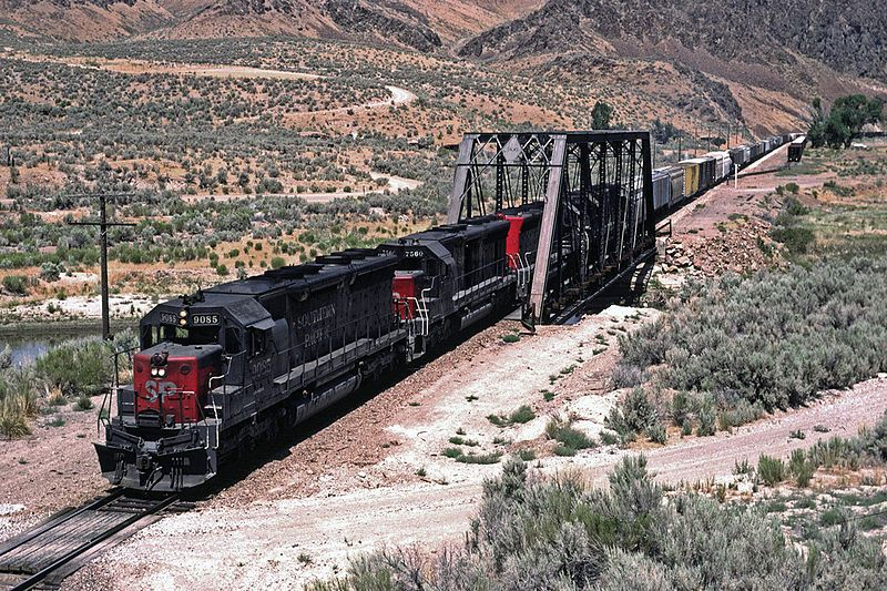 Image showing a Southern Pacific liveried EMD SD45 locomotive