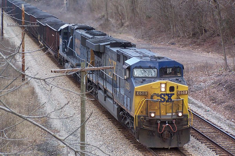 Image showing CSX # 658 in the New River Gorge in WV