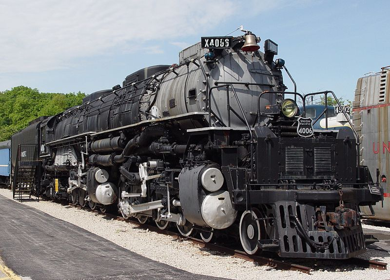 "Image showing Union Pacific 4-8-8-4 ""Big Boy"" #4006, preserved by the Museum of Transportation, St. Louis, Missouri, USA"