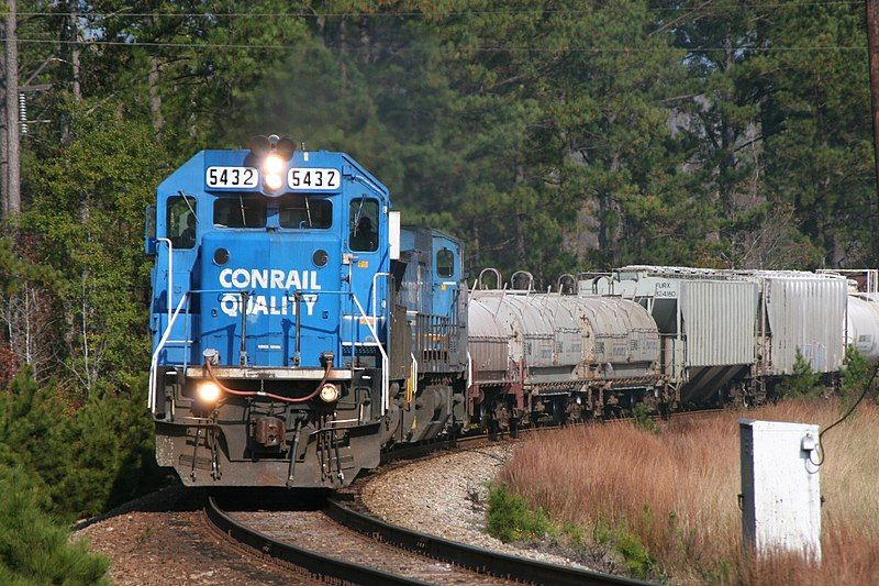 Image showing Conrail liveried EMD SD50 locomotive